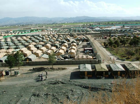 Forward Operating Base Fob Salerno Afghanistan Schema