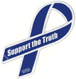 SUPPORT THE TRUTH magnetic ribbon